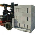 Hydraulisk gaffeltruck Betong murstein / blokkløfteklemme